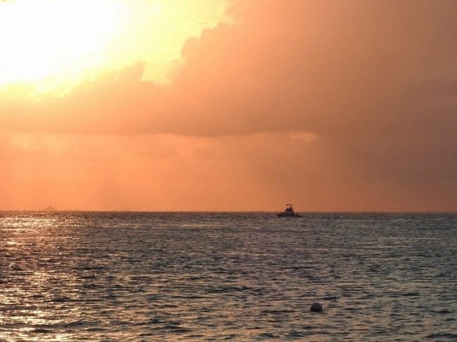 Sunset over Cozumel Channel