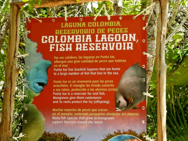 Signage at Laguna Colombia